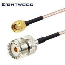 Eightwood коаксиальный кабель SMA охватываемый к UHF SO-239 гнездовые разъемы 6.5ft Низкая потеря Соединительный кабель-удлинитель для портативная радиоантенна
