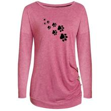 Paw Print Long Sleeved Shirt with Buttons