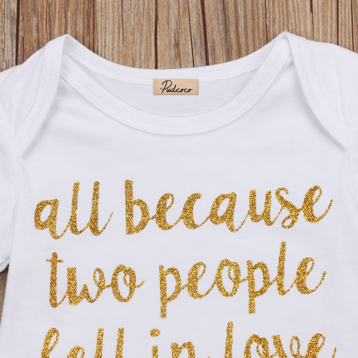 All Because Two People Fall In Love Letter Pcs Toddler Clothes