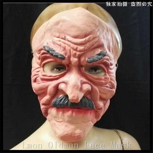 Neue Ankunfte Super Lustige Terror Alte Mann Latex Maske Halloween