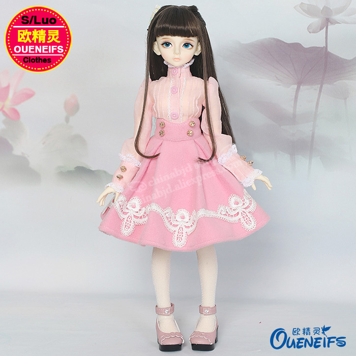 BJD SD Doll Clothes 1/4 Elegant Dress Shirt Pleated Princess Style YF4-172 Doll Accessories