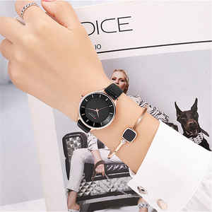 Image 2 - CURREN Brand Watch Women Fashion Leather Quatz Wristwatch For Womens Girls Diamond Dial 30M Waterproof Female Clock bayan saat