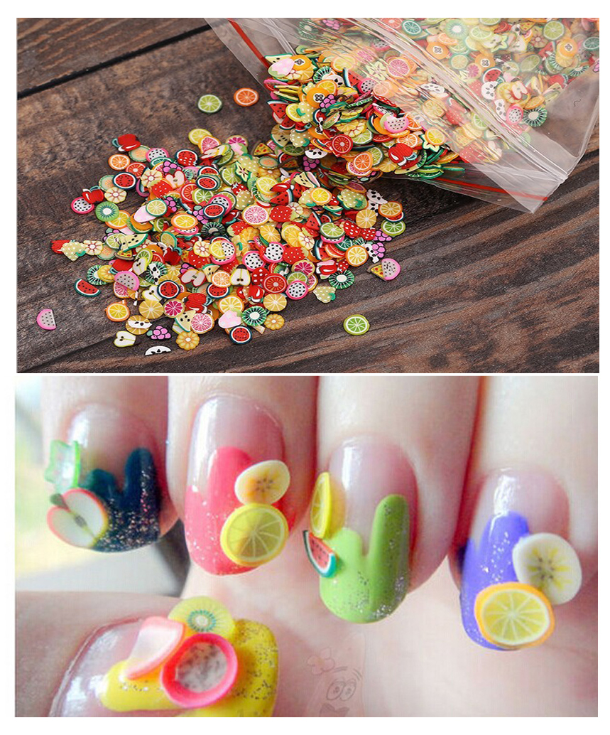 2Pack Nail Art 3D Fruit Slice Ongles Decoration Nail Art Sticker ...