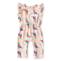 Fly sleeve   romper     baby   girl summer clothes Mermaid girl   romper   cotton   baby     rompers   sleeveless toddler one piece white costume