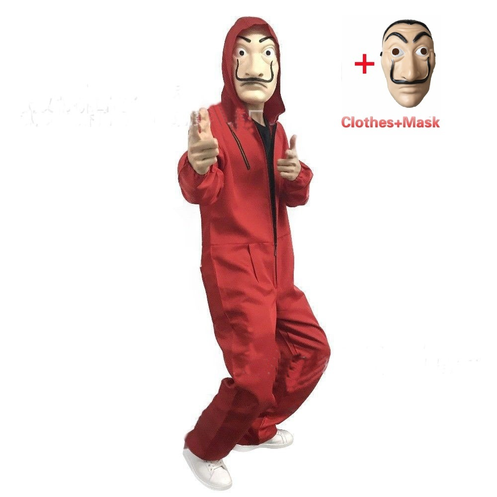 Money Heist The House of Paper La Casa De Papel Cosplay Salvador Dali halloween costumes men adult Carnival kids children boys(China)