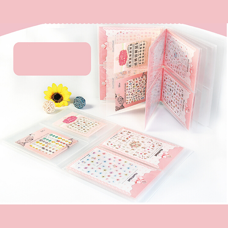 20 Pages 3D Nail Sticker Decal Collecting Albums Storage