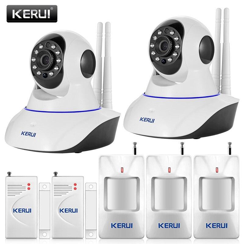 bilder für Original KERUI 720 P WiFi Ip-kamera Home Office Alarmanlage Bewegungssensoren Kit + 32G Sd-karte