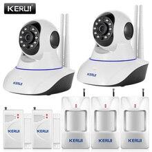 Original KERUI 720 P Cámara IP WiFi Home Office Antirrobo del Ladrón Sistema de alarma Kit de Sensores de Movimiento + 32G Tarjeta SD