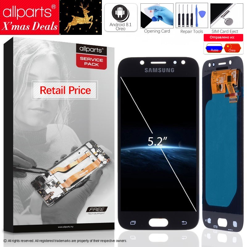 Galleria fotografica Super AMOLED Original LCD For SAMSUNG Galaxy J5 2017 Display Touch Screen For SAMSUNG Galaxy J5 2017 LCD Display J530 LCD