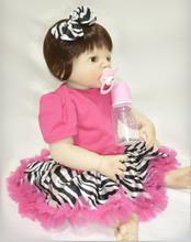full silicone reborn dolls poppen 55 cm vinyl dolls reborn handmade baby toys 22 inch baby girl born doll accessories poppen NPK недорого