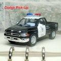 Новый Классический Dodge Пикап (полиция) 1/44 Масштаб Литья Под Давлением Металл Вытяните Назад Автомобиль Модель Игрушки Для Подарка/Дети-Бесплатная Доставка