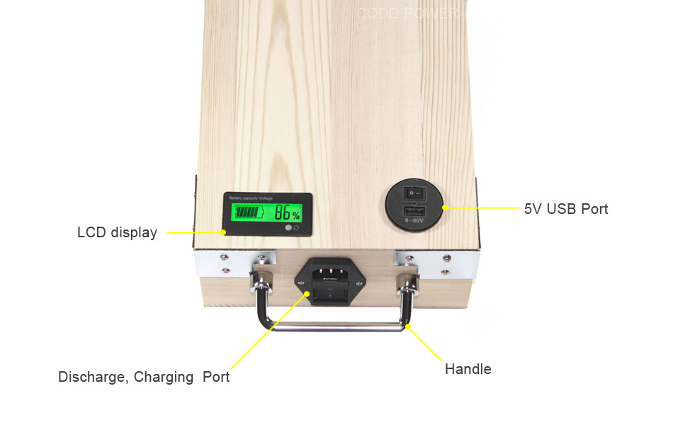 Discount APP 24V 40AH Electric bike LiFePO4 Battery Pack Phone control Electric bicycle Scooter ebike Power 1000W Wood 9