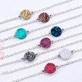 DoreenBeads Смола Drusy/Drusy элегантные женские браслеты Античный Серебристый круглый разъем 8 цветов Блеск 17 см (6 6/8 \