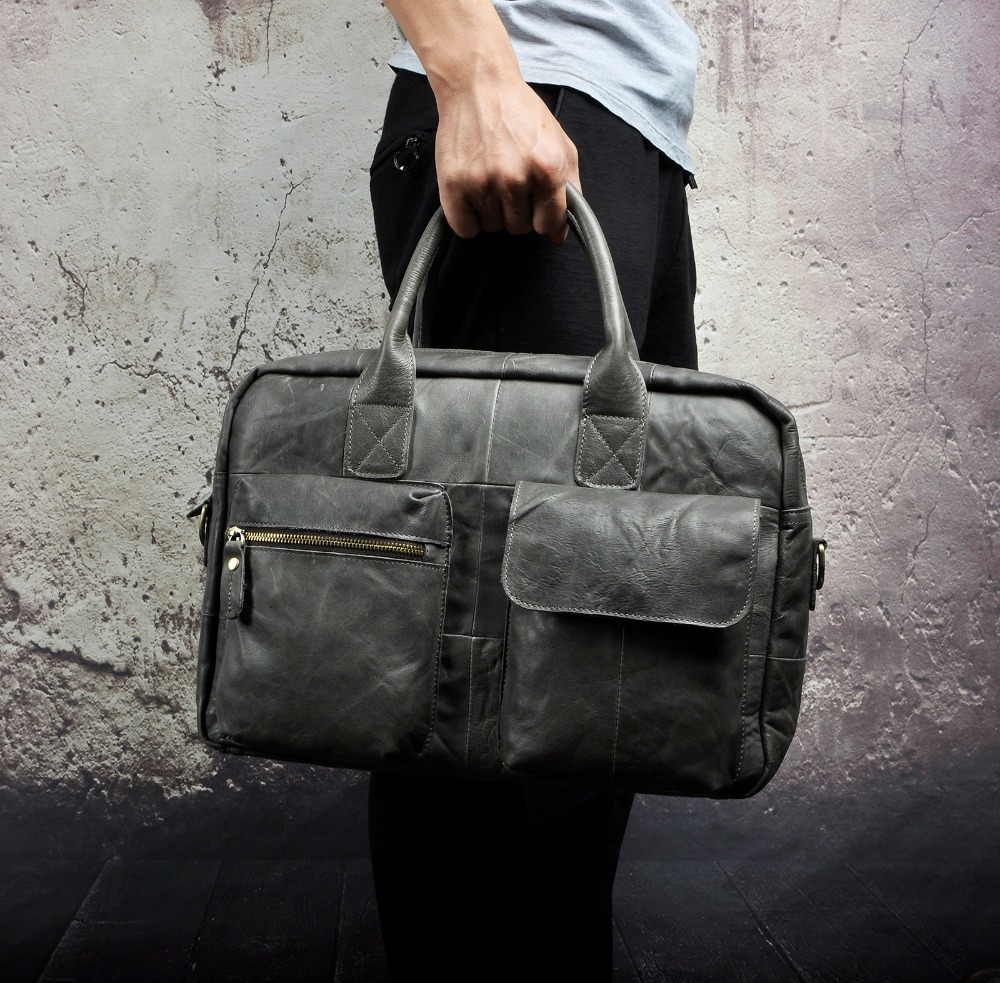 Quality Leather Fashion Large Capacity Business Briefcase Messenger Bag Male Design Travel Laptop Case Tote Portfolio Bag B331g