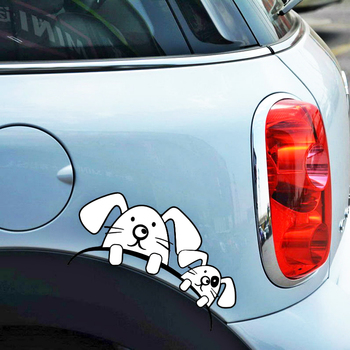 Etie Car Accessories Cartoon Cute Dog Wheel Tire & Rim Sticker Decal for Motorcycle Chevrolet Golf Honda Hyundai Toyota Peugeot image