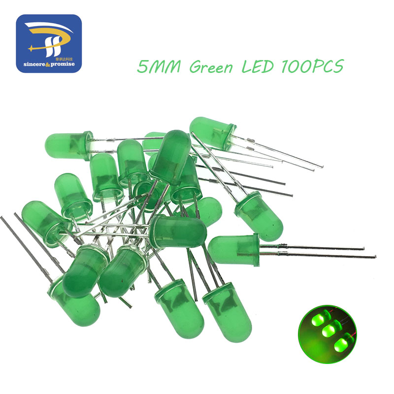 5colors*20pcs=100pcs 5mm Led Diode Light Assorted Kit Green Blue White Yellow Red Component Diy Kit New Original Electronic Components & Supplies Active Components