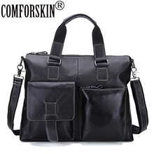 COMFORSKIN New Arrivals Large Capacity Travelling Bag Men Leather Handbags Mochila Masculina Hot Brand Designer Male Totes