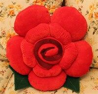 3D Roses Flower Shape Decorative Pillows Chair Cushion Office Seat Cushion High Quality Throw Pillows Cushions