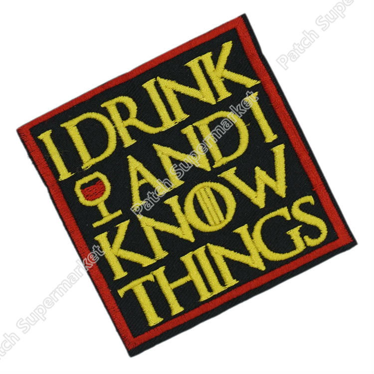 Game of Thrones I Drink and I Know Things Patch TV Movie Film Halloween Cosplay Costume