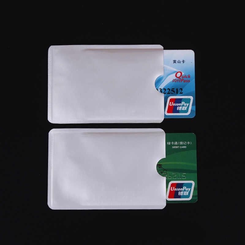 QuickDone nuevo 10 unids/set Anti Scan RFID Bloqueo de tarjetas bancarias cartera NFC protección de tarjetas de identificación funda de protección bolsa de almacenamiento DK0340