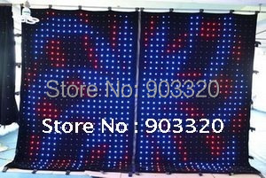 Rasha Freeshipping P18 2M 3M SD Card 176 LEDS LED Vision Curtain LED Vision Cloth LED