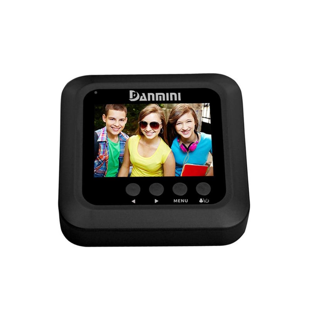DANMINI 2.4 Door Peephole Camera 160 Degree Digital Peephole Viewer Video Doorbell Video Record IR Night Vision Outdoor Camera