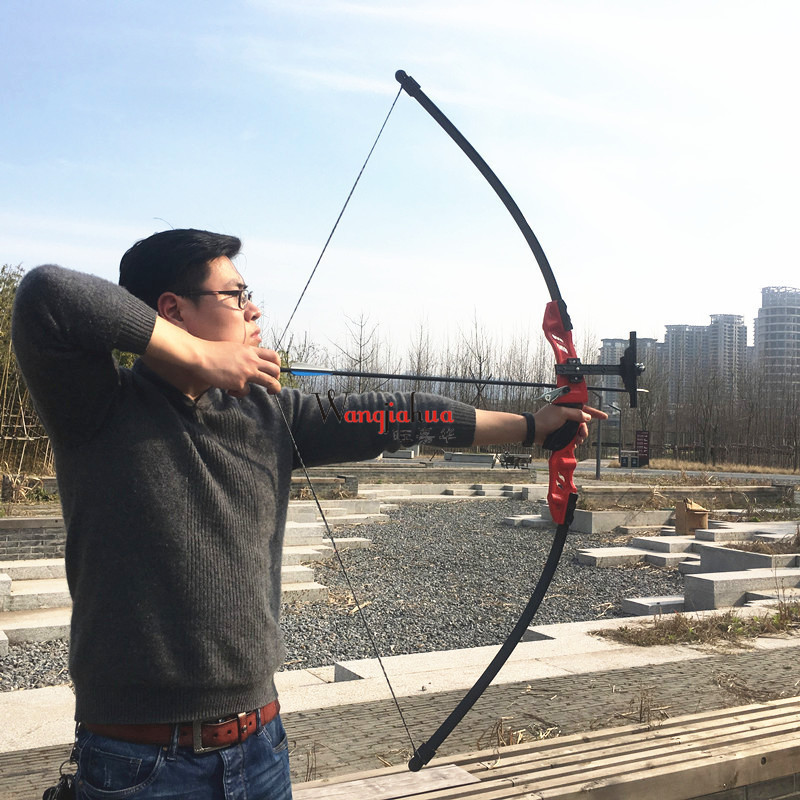 30-40 lbs Archery Recurve Bow 55 inch American Hunting Bow For Both Right Traditional Long Bow Hunting Shooting 53 inch recurve bow 30 40 lbs american hunting bow for archery outdoor sport hunting practice longbow traditional chinese