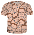 Summer style Fashion t shirt Nicolas cage Crazy funny Stare at you print 3d t shirt men/women top tees plus size S-4xl