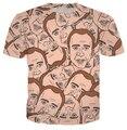 Verão moda camisa Nicolas cage louco engraçado olhar de de impressão 3d t camisa homens / mulheres t-shirt plus size S-4xl