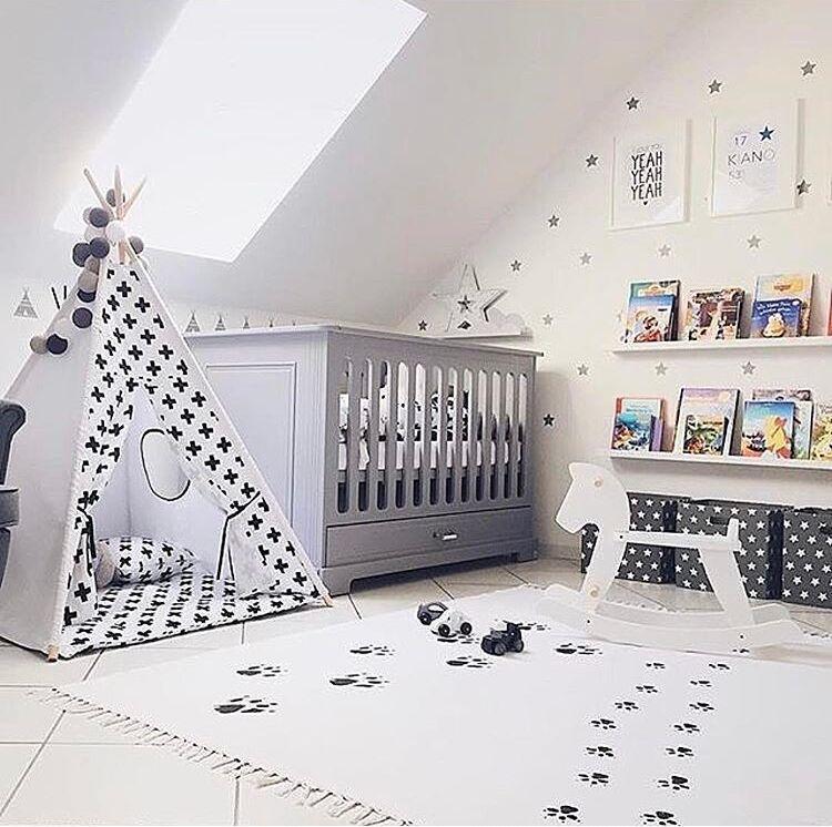 Скандинавском стиле Модные холщовые лесные дорожки Подиумные игровые коврики Детские наколенники для ползания одеяла напольный ковер украшение детской комнаты - Цвет: 150x90 dog footprint