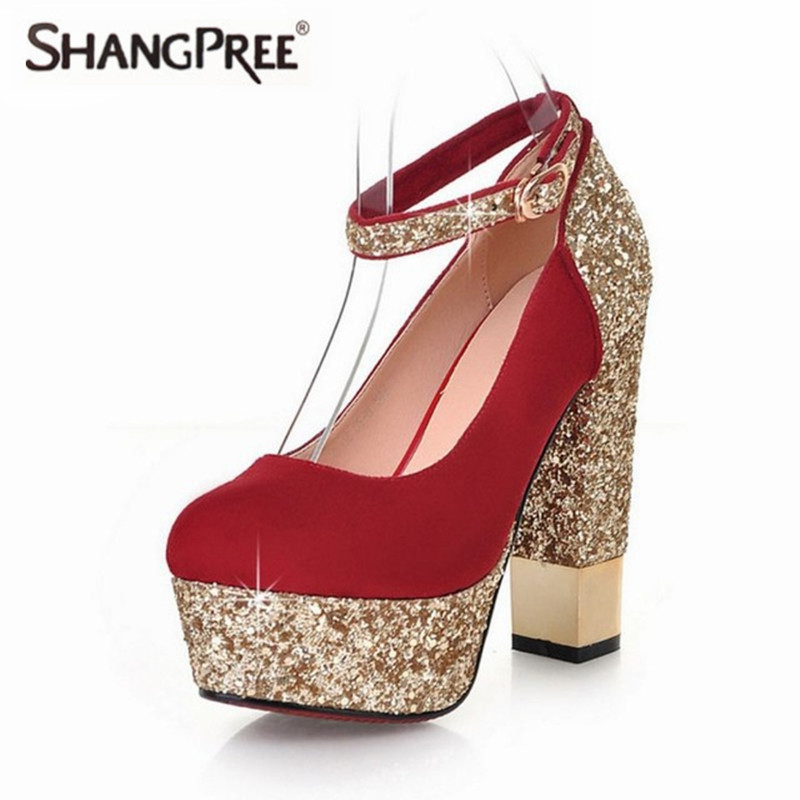 Large size New Fashion Sequins Women High Heels Spring Autumn Women Pumps Thin Heels Sexy Slim Party Shoes High Heels women big size 40 41 42 women pumps 11 cm thin heels fashion beautiful pointy toe spell color sexy shoes discount sale free shipping