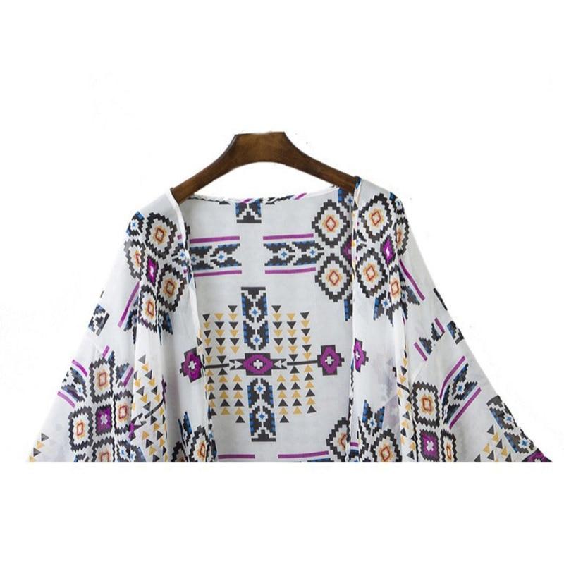 Camisa Impresas Mujeres Blusas Verano 2016 Nuevo Size Tops Estilo Camisas Plus Femeninas Vintage Kimono Cardigan awgq5x