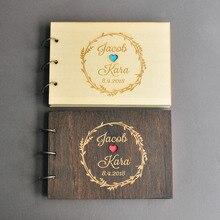 Персонализированная Свадебная Гостевая книга в деревенском стиле на заказ деревянная Гостевая книга обручение юбилей подарок свадьба знак книга