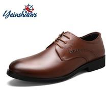 bcb29fbf YEINSHAARS Zapatos de vestir de los hombres de cuero genuino de vaca fiesta  clásico Formal zapatos de hombre joven boda elegante.