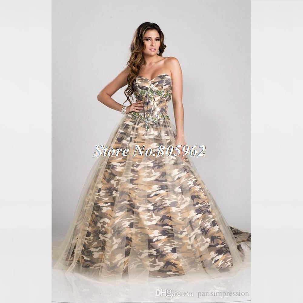 New 2016 a line camo wedding dresses off the shoulder for Camo wedding dress prices