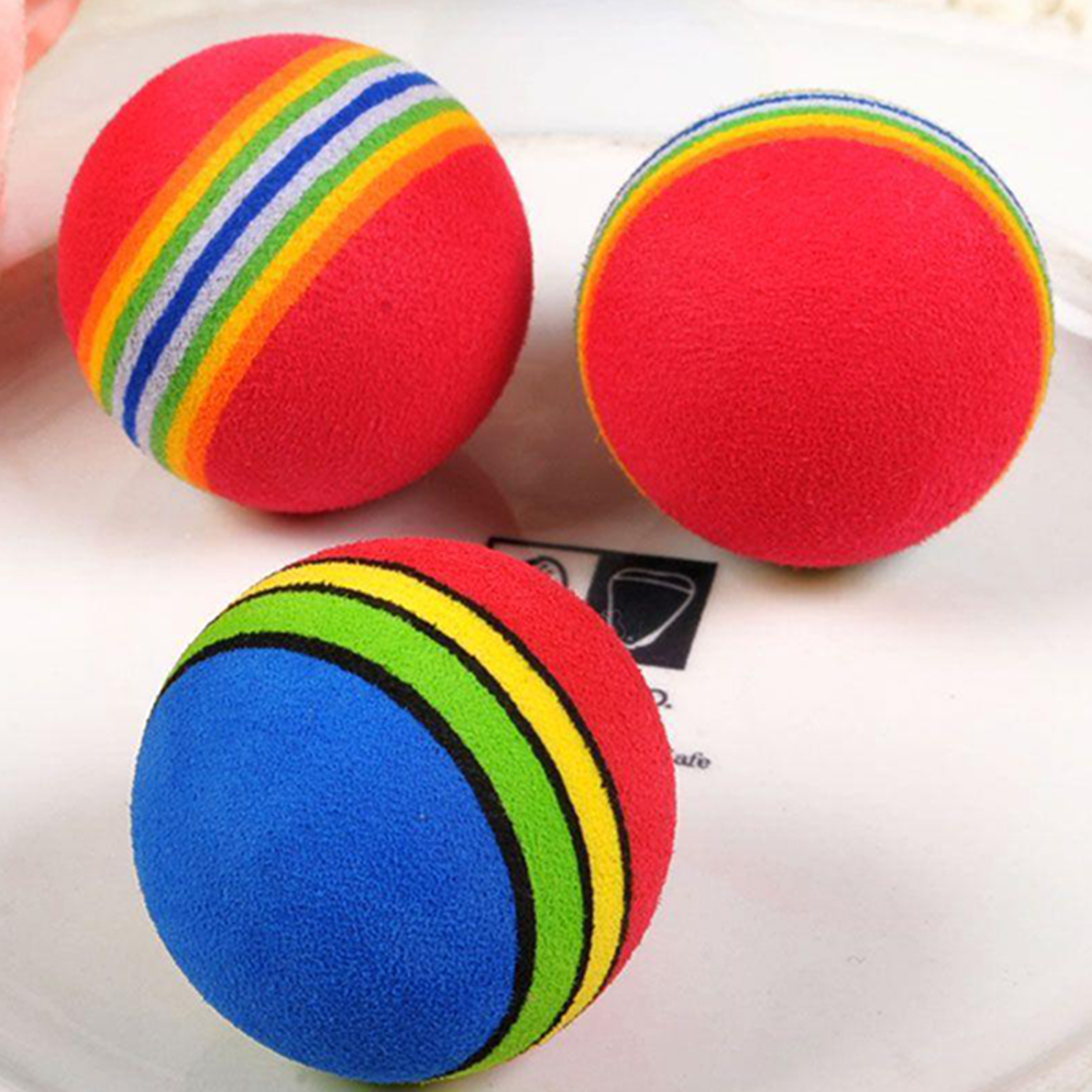 New Dog Cat Toys Pet Products Pets Toy Ball Puppy Dog And Cat Toys Chew Q Rainbow Ball Toys #21