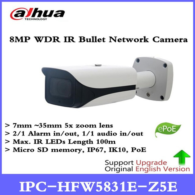 DH New Arriving cameras 8MP WDR IR Bullet Network Camera Without Logo IPC-HFW5831E-Z5E free DHL shipping цена