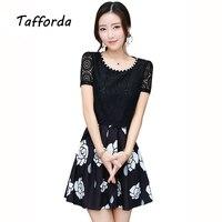 Tafforda 2017 Korean Style Plus Size S 3XL Women S New Slim A Word Office Dress