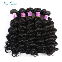 Ali Fumi Queen Hair Products Brazilian Natural Wave Human Hair Weave 10Pcs Lot Virgin Hair Natural Color With Free Shipping
