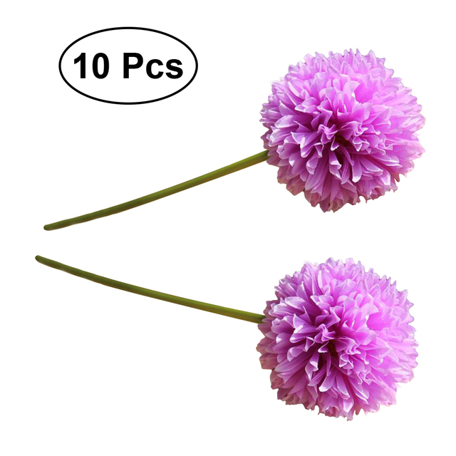 10pcs Artificial Flowers Simulation Flower Allium Ornamental Onion