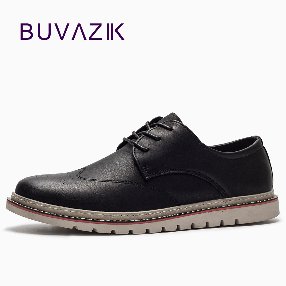 BUVAZIK Men's Oxfords 2018 New Trendy Fashion Casual Shoes Soft Leather Retro Basic Flats High Quality Handmade Shoes Men uexia leather casual shoes men fashion wedding retro oxfords breathable black high top lace up high quality flats male moccasins