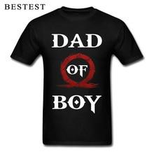 2019 Fashion Men T-shirt Dad Of Boy God Of War Tshirt Cool Father Day Gift Tops Letter Vintage Punk Tees Cotton Black Clothing best dad tshirt funny design father day t shirt 100% cotton fashion gift t shirt eu size