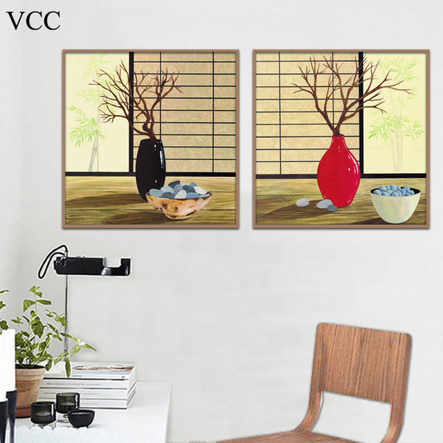 VCC Wall Art Canvas Painting Flower Poster PicturePaintings On The