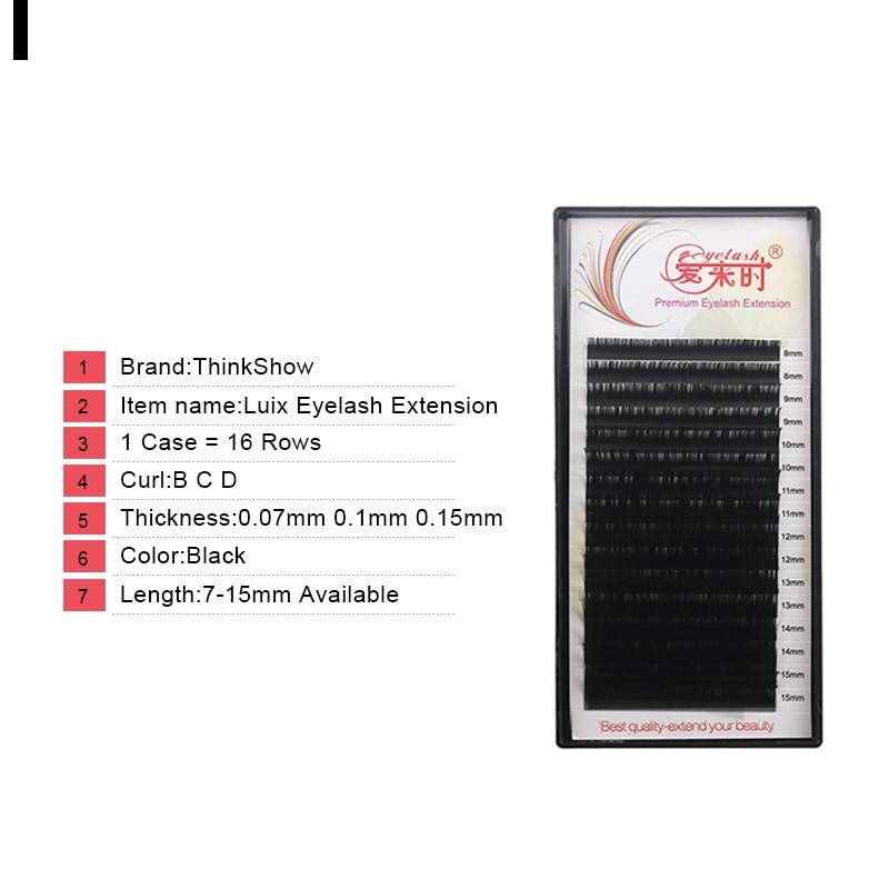 Thinkshow 16 Lines 8-15mm Eyelash Extension Mix Natural Long False Eye Lashes Individual Lash Thick Silk Mix Lash Extension