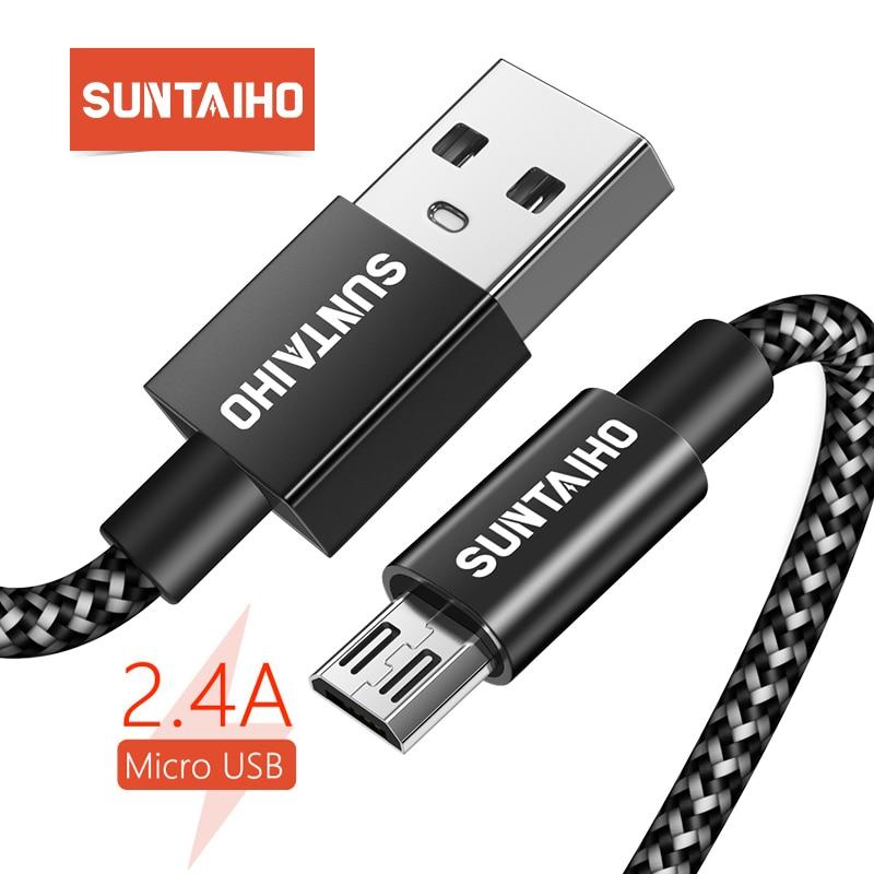 Micro USB кабель зарядное устройство Suntaiho 5V2 4A быстрой зарядки для самсунг шнур для зарядки телефона USB Зарядное устройство для телефона зарядка кабель для samsung xiaomi LG huawei Meizu  плетеный нейлоновый  купить на AliExpress
