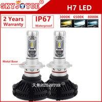 SKYJOYCE 24W 2400LM LED headlight H11 COB led Car Headlight H11 LED auto Headlight conversion Kit better white H11 led