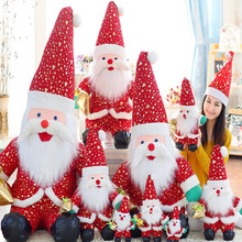 1pcs Christmas Doll Gift For Children Classic Santa Claus Red Decoration Hot Sale Kids Toys Plush And Stuffed Toys D152