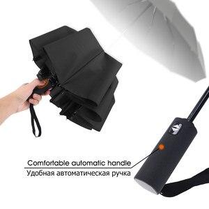 Image 4 - Guarda chuva dobrável para homens e mulheres, forte, resistente ao vento, dobrável, automático, com 12 aberturas, guarda chuva portátil com cabo longo