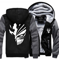 2017 New Winter Men Jacket Coat Death Hoodie Sweatshirts Hip Hop Luminous Hooded Thick Zipper Men Cardigan Sweatshirts Outerwear