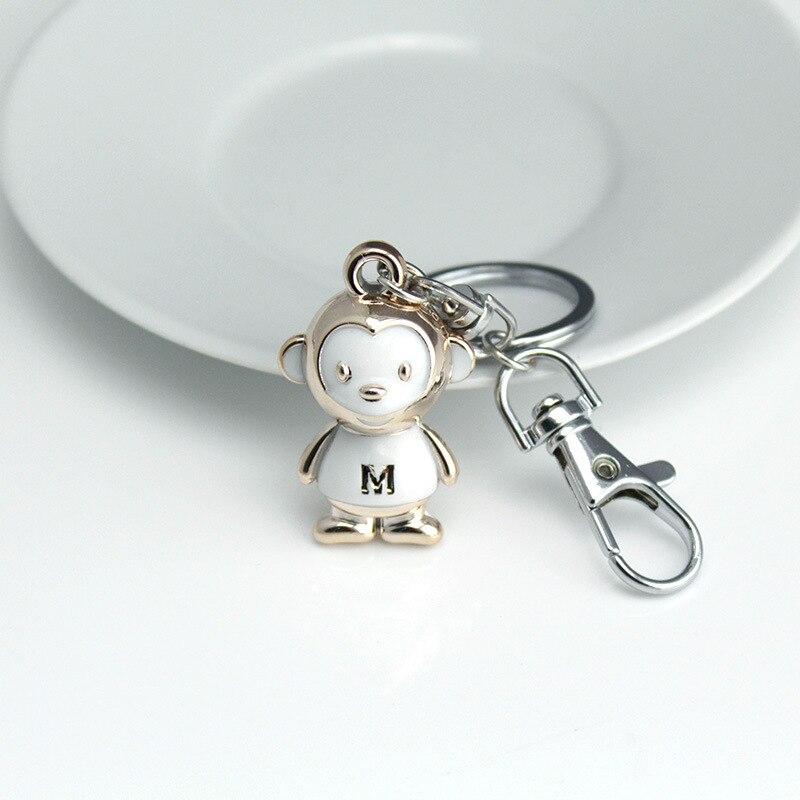 DHLFREE 100 PCS Mooie geëmailleerde Lichtmetalen Aap sleutelhanger Sleutelhanger Ringen voor Mannen Vrouwen Paar Lover Novelty Gift Trinket - 4